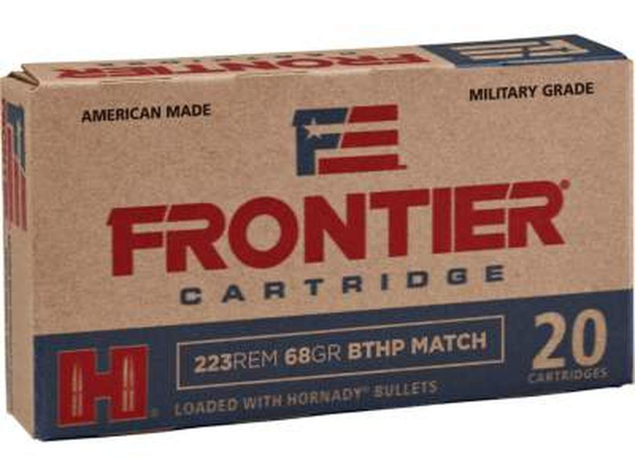 Hornady 5.56x45mm NATO Frontier M193 HFR200 55 gr FMJ 20 rounds