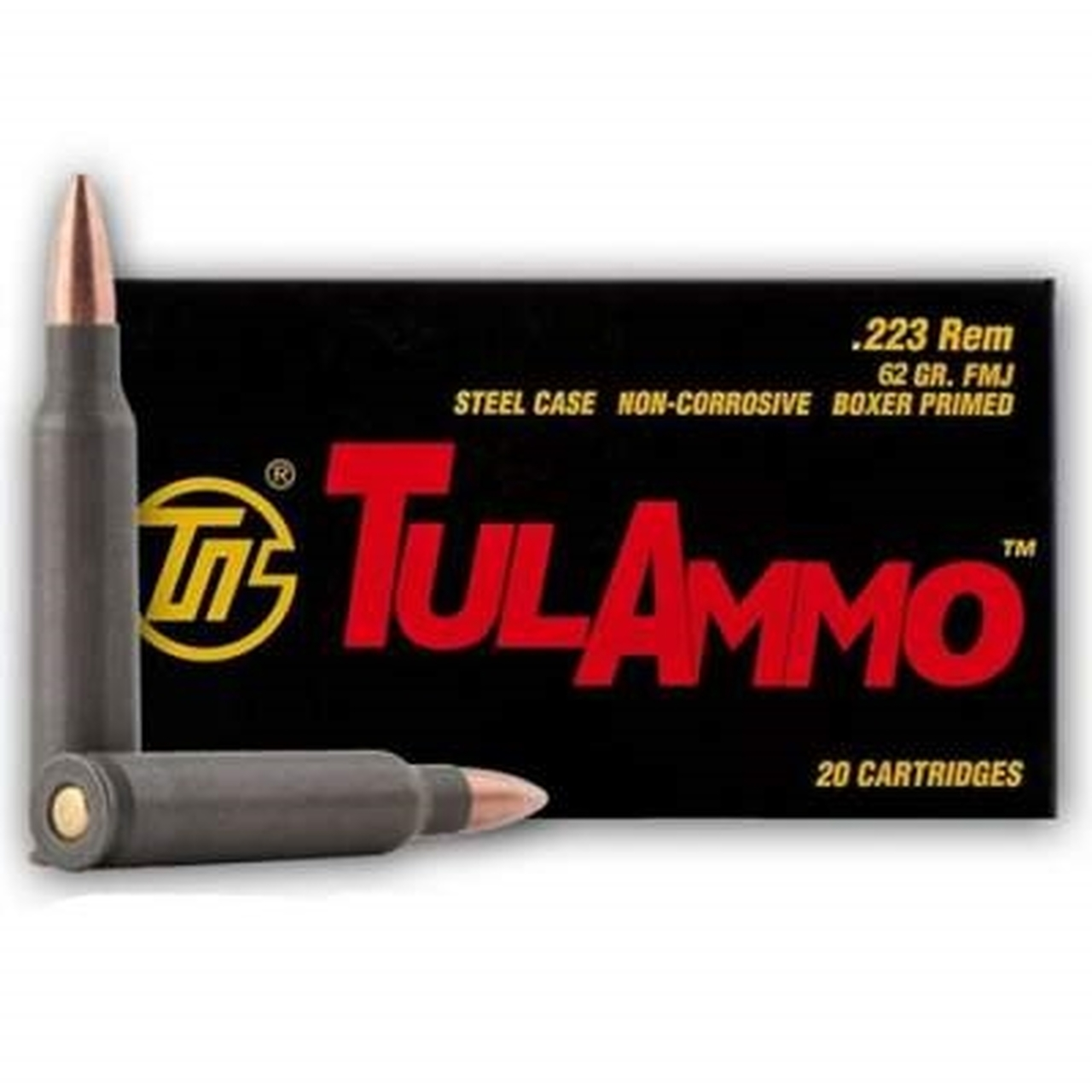 Tulammo 223 Remington 62 Grain Full Metal Jacket 20 Round Box