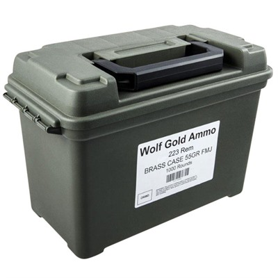 Wolf Ammo 223 .Remington 55 Gr FMJ Brass Cased Can of 1000 Rounds