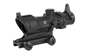 Trijicon, ACOG Rifle Scope, 4X32, Amber Center Illumination for M4A1, Flat Top Adapter, Backup Iron Sights and Dust Cover